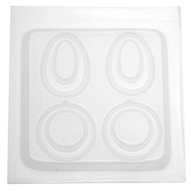 Resin Epoxy Mold For Jewelry Casting - 2 Pair Teardrop / Round Earrings