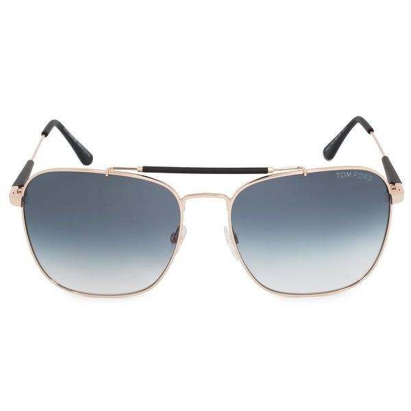 bfa6f4b5ba8c Shop Tom Ford Edward Aviator Sunglasses FT0377 28W 60 - Free ...