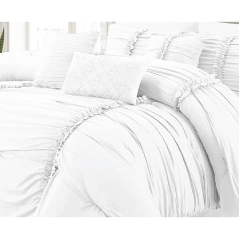 Luxury Ultra Soft Goose Down Alternative Solid Comforter Set