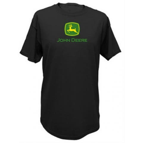John Deere 13000000BK06 Men's Short Sleeved Tee Shirt, XL, Black