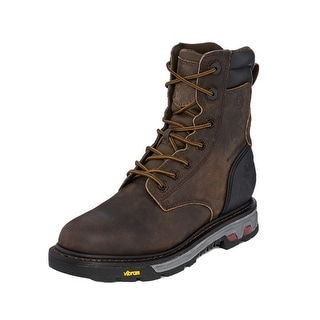 "Justin Work Boots Mens Waterproof Insulated 8"" Shaft Leather WK216"