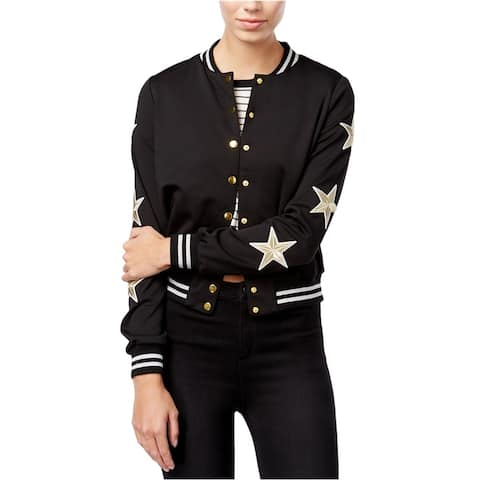 Material Girl Womens Stars All Over Bomber Jacket