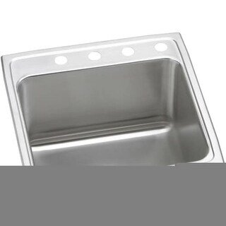 """Elkay DLR222210 Gourmet 22"""" Single Basin 18-Gauge Stainless Steel Kitchen Sink for Drop In Installations with SoundGuard"""