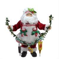 "12"" Santa Claus Holding a Garland with Tootsie Candies Christmas Decoration"