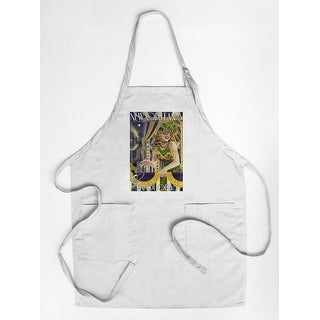 New Orleans, Louisiana - Mardi Gras - Lantern Press Artwork (Cotton/Polyester Chef's Apron)
