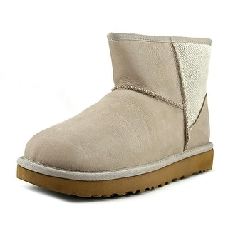 Ugg Australia Classic Mini ll Snake Women Round Toe Leather Winter Boot