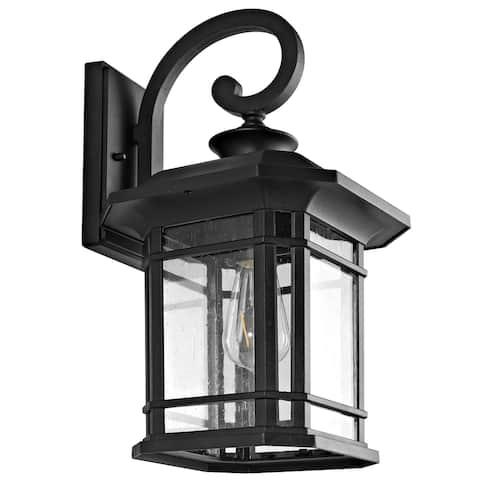 "SAFAVIEH Cendra Outdoor Wall Lantern - 9.3""x10.3""x17"""