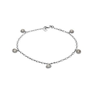 Sterling Silver Bracelet with White Cubic Zirconia