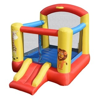 Costway Inflatable Animals Jumping Bounce House Castle Jumper Bouncer Kids Outdoor - as pic