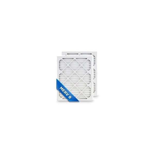 High Quality Pleated Furnace Air Filter 14x36x1 Merv 8 (2-Pack)