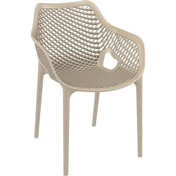 Compamia Air XL Outdoor Dining Arm Chair Set of 2 - Dove Gray Undo - Grey