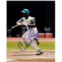 Signed Carr Chuck Florida Marlins 8x10 autographed