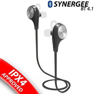 Synergee Sports Bluetooth Headphones V4.1 Wireless Noise Cancelling Headset In-Ear Running Sweatproof Earbuds With Mic