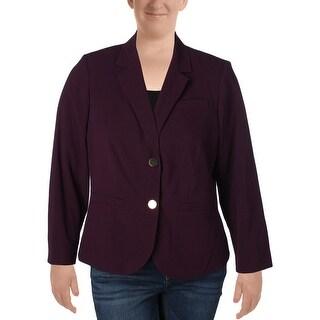 Calvin Klein Womens Plus Two-Button Suit Jacket Crepe Professional