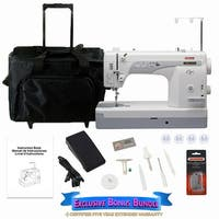 Janome 1600P-QC High Speed Sewing & Quilting Machine W/ Bonus Bundle