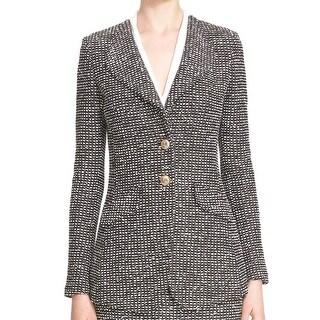 St. John NEW Black Mohagony Womens Size 6 Moorishak Two-Button Blazer