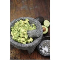 Poster Print entitled Guacamole in mortar with pestle - multi-color