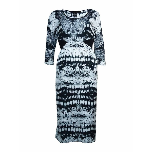 Style & Co. Women's Prism Glance Printed A-Line Dress