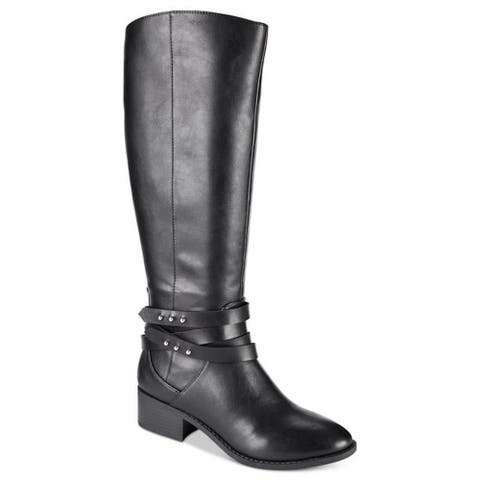 Material Girl Womens Damien Closed Toe Knee High Fashion Boots