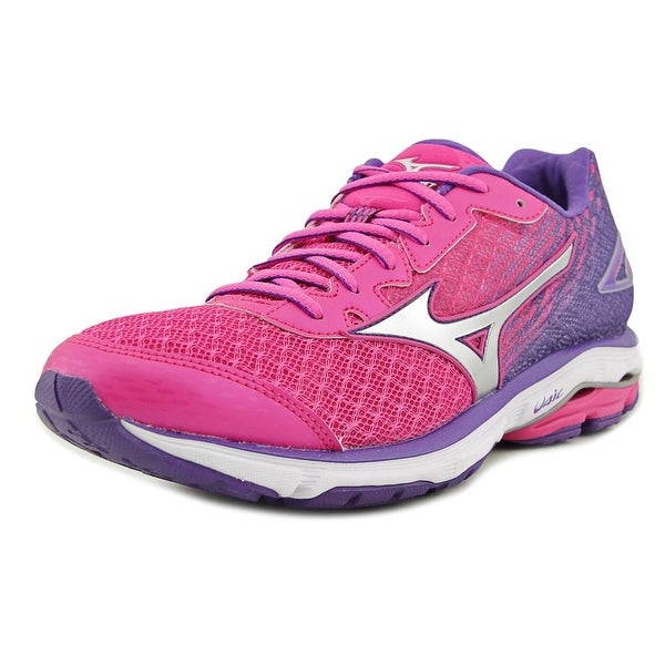 Mizuno Wave Rider 19 Women 2A Round Toe Synthetic Multi Color Running Shoe