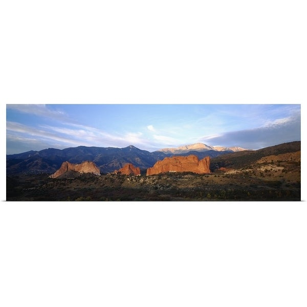 """Rock formations on a landscape, Garden Of The Gods, Colorado Springs, Colorado"" Poster Print"