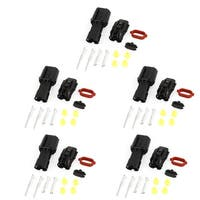 Unique Bargains 5 Set 2-pole 2 Positions Sealed Waterproof Wire Connectors for Car Auto
