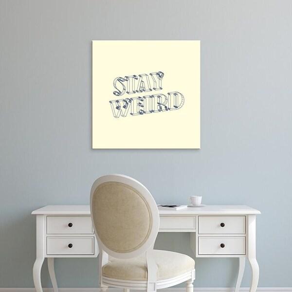 Easy Art Prints 'Stay Weird III' Premium Canvas Art