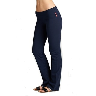 Yoga Pants Cotton Fold Over Waist Boot Cut (Size: S-L)