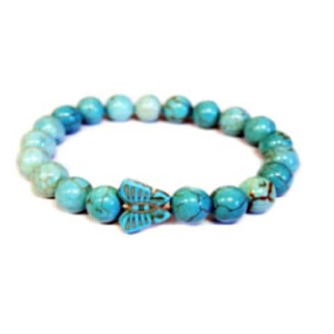 Natural Stone Turquoise Butterfly Bracelet
