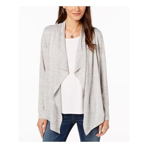 BAR III Womens Gray Long Sleeve Sweater Size S