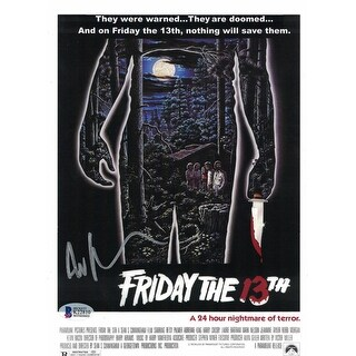 Ari Lehman Autographed Friday The 13th Movie Poster 8x10 Photo BAS
