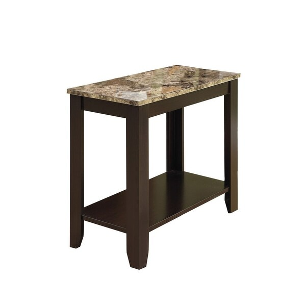 Genial Monarch Specialties I 3114 23 Inch Wide MDF End Table   Cappuccino/Marble