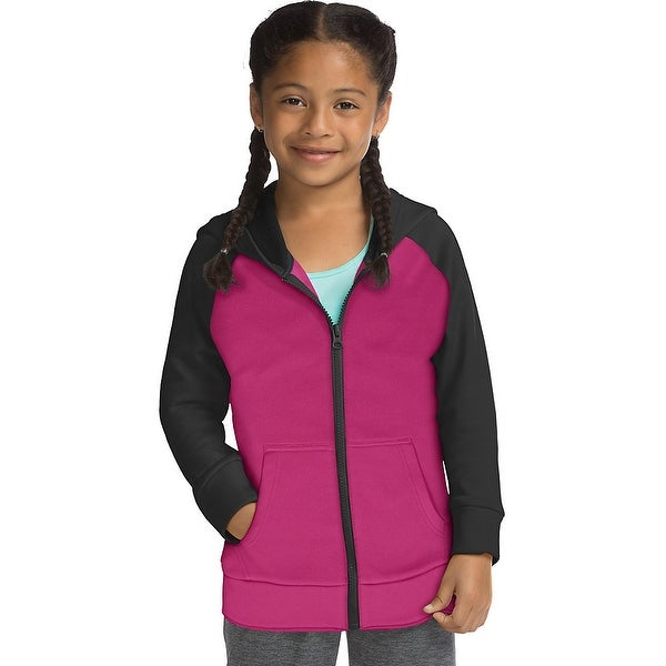 detailed look a2160 03455 Shop Hanes Sport™ Girls  Tech Fleece Full Zip Hoodie - Color - Lotus  Pink Stealth - Size - XS - Free Shipping On Orders Over  45 - Overstock -  26113262