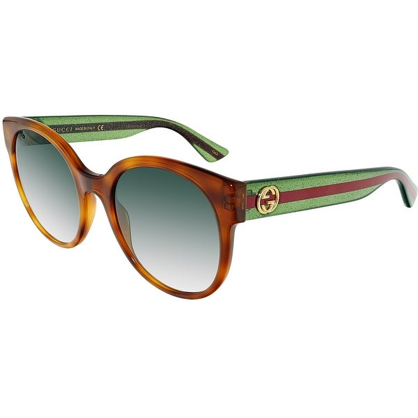 00280927a89 Shop Gucci Gradient GG0035S-003-54 Green Butterfly Sunglasses - Free ...