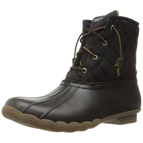 Sperry Womens Saltwater Duck Round Toe Ankle Rainboots