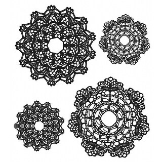 "Tim Holtz Cling Stamps 7""X8.5""-Doily"
