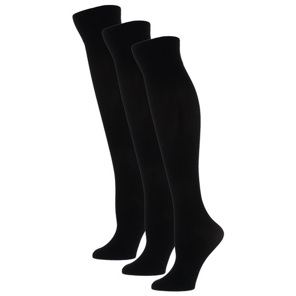 a417c74e21f Shop Gold Toe Womens Knee-High Socks 3 Pack Microfiber Black 9-11 - Free  Shipping On Orders Over  45 - Overstock - 22048293