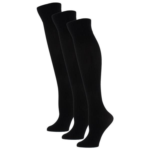 Gold Toe Womens Knee-High Socks 3 Pack Microfiber Black 9-11