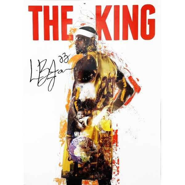LeBron James Poster Cavaliers 23 King (18x24) - Multi-Color