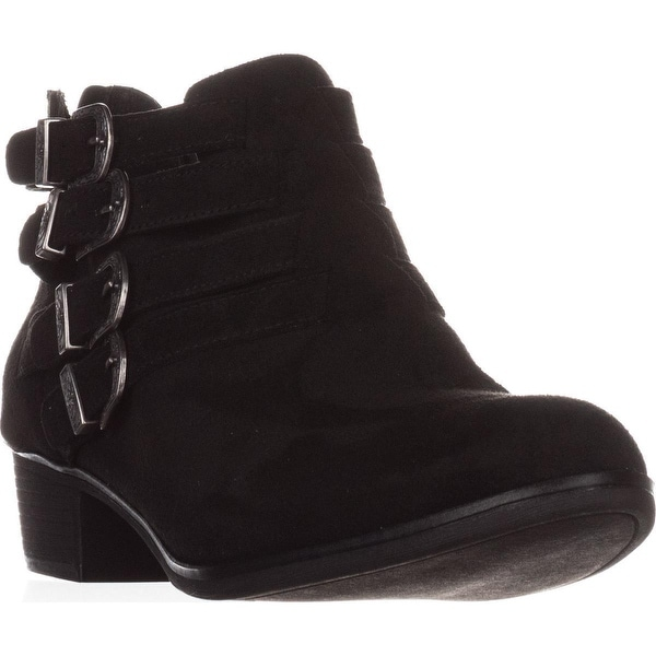 AR35 Darie Strappy Casual Ankle Boots, Black