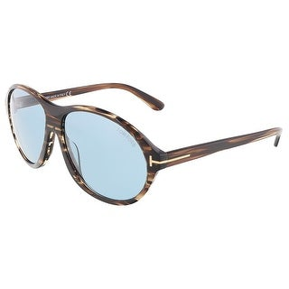 Tom Ford FT0398/S 50J TYLER Brown Wood Oval sunglasses