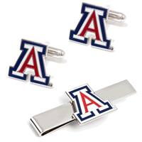 University of Arizona Wildcats Cufflinks and Tie Bar Gift Set - Multicolored