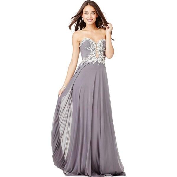 JVN by Jovani Womens Formal Dress Embellished Illusion