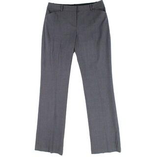 KobHalperin NEW Charcoal Gray Womens Size 10 Flat Front Dress Pants
