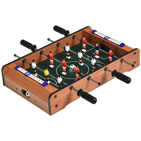 """20"""" Foosball Table Mini Tabletop Soccer Game - 20"""" x 19.5"""" x 4"""" (L x W x H)"""