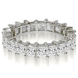 6.50 cttw. 14K White Gold Princess Shared-Prong Diamond Eternity Ring