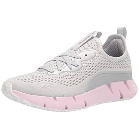 Reebok Women's Zig Sky Sneaker, Pure Grey/Frost Berry/White