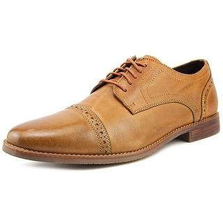 Rockport Style Purpose Cap Toe Men W Wingtip Toe Leather Tan Oxford