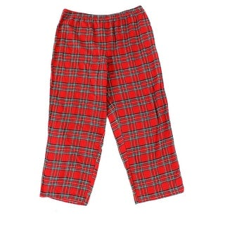 Family PJ's NEW Red Womens Size XXL Plaid-Flannel Lounge Sleep Pants
