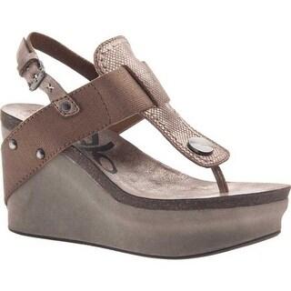 OTBT Women's Joyride Wedge Sandal Copper Leather/Textile
